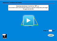 Maths lessons about deducing the formula for the area of a trapezium