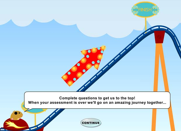 Maths-Whizz rollercoaster start
