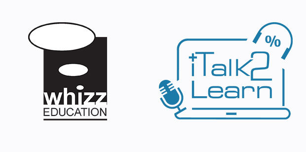 Whizz Education and iTak2Learn logos