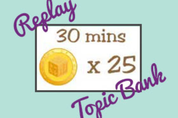 Replay and Topic Bank usage time