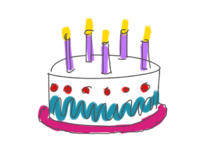 Illustration of birthday cake