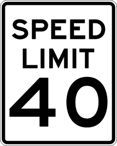speed limit 40 sign